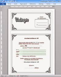 template undangan haul contoh undangan tahlil file microsoft word toriqoel