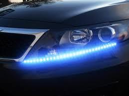 Blue Led Light Strip by Amazon Com Zone Tech 30cm Flexible Waterproof Blue Light Strips 4