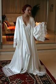 wedding sleepwear satin bridal robe wedding trousseau satin sleepwear wedding