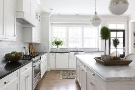 White And Gray Kitchen Cabinets by White Kitchen Cabinets With Grey Granite Countertops Cottage