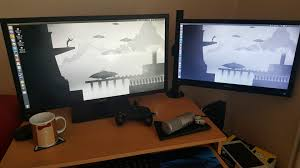 Dual Monitor Mounts For Desks Want To Use Dual Monitors But Don U0027t Have Enough Desk Space I