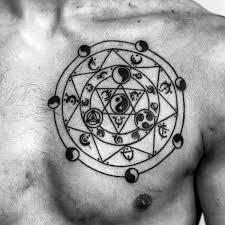 Yang Yang Tattoos 60 Yin Tang Tattoos For Contrasting Designs