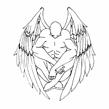 praying angel outline impressive angel tattoo design neeling