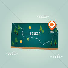 Map Topeka Ks Kansas Map With Capital City Vector Image 1536701 Stockunlimited