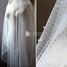 tulle by the yard ivory sheer rhombus tulle fabric with pearl sold by the yard lunss