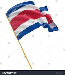 Costarica Flag 3d Costa Rica Flag Stock Illustration 167351189 Shutterstock