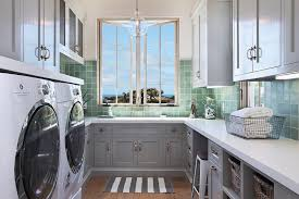 light green laundry room cabinets cottage laundry room