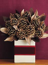 pine cone table decorations centerpiece ideas pinecone centerpiece how to at