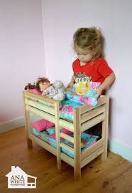 American Doll Bunk Bed White Build A Doll Bunk Beds For American Doll And 18