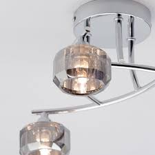 flush ceiling lights living room sammi 3 light flush ceiling light chrome from litecraft