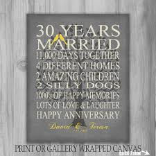 30 year anniversary gift ideas wedding gift cool 30 year wedding anniversary gift photos