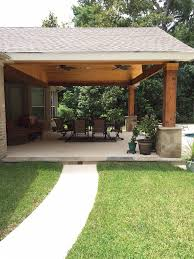 Covered Patio Designs Backyard Paradise Magnolia Tx United States Gable Roof Patio