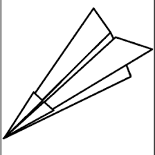 paper airplane coloring archives mente beta complete