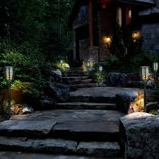 Patio Torch Lights by Zugo Solar Path Dancing Flame Tiki Torch Light 2 Pack Zugopet