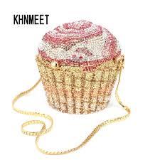 cupcake purse designer brand luxury evening bag fashion cupcake diamond