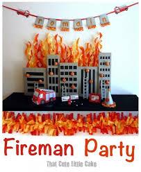 truck birthday party fireman birthday party celebration truck ideas spaceships