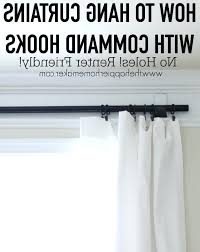 Command Hook Curtains 3m Command Hooks Hang Curtains Diy No Sew Valance Hung With