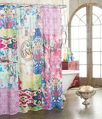 Gypsy Ruffled Shower Curtain Bathroom Cheetah Print Shower Curtain Fabric Shower Curtains