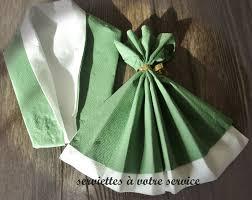 pliage de serviette en papier 2 couleurs feuille costume et robe de soirée https www facebook com