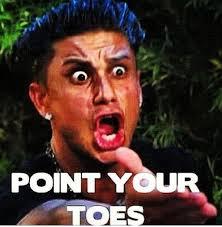 Toe Memes - pauly d point your toes gymnastics meme gymnastics memes