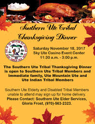 the southern ute drum thanksgiving dinner