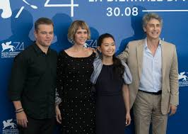 downsizing matt damon and kristen wiig u0027s downsizing premiering at venice film