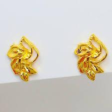 3 gram gold earrings 2018 yunnan alluvial gold earrings cheap earrings bridal jewelry