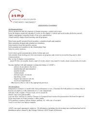 Event Coordinator Job Description Resume by Chicago Midwest Asmp Official Chapter Blog