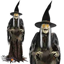 scary life size standing animated swamp hag witch halloween moving