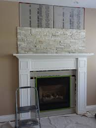 resurface fireplace with stone home interior design simple