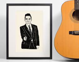 Target Wreaths Home Decor Johnny Cash Poster Etsy