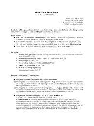 Cv Title Examples For Freshers Fresher Testing Resume Template Websites Web Design