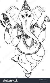 hindu elephant god lord ganesha patron stock vector 318148115