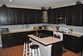 stain kitchen cabinets without sanding drawes using black iron cup