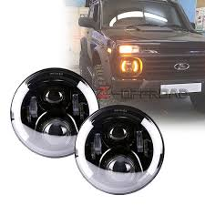 lada al led pour lada niva 4x4 vaz 2121 7 led phare daymaker remplacement drl