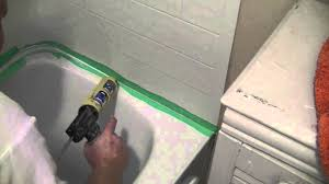 Bathtub Sealing How To Silicone Seal A Tub Surround To A Tub Youtube