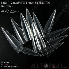 aliexpress com buy clear long competition stiletto nail tips