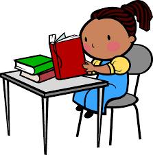 child sitting clipart sitting at desk