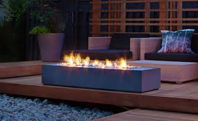 Linear Fire Pit by Concrete Fire Pits Cement Fire Pits Rinnovo The Expert In