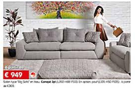 toff canapé meubles toff promotion salon type big sofa en tissu canapé 3pl