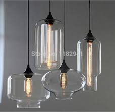 Industrial Glass Pendant Lights Free Shipping New Loft Style American Industrial Glass Jar Pendant