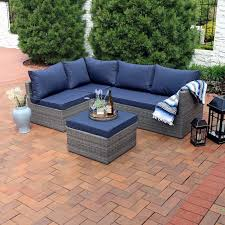 Outdoor Furniture Sectional Sofa Outdoor Patio Sectional Sofas U0026 Loveseats Wayfair