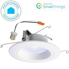 wifi led recessed lights halo rl 4 in white wireless smart integrated led recessed ceiling
