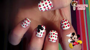 manicura mickey mouse mickey mouse nails youtube
