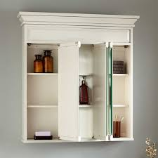 White Bathroom Medicine Cabinet 36 Misschon Tri View Medicine Cabinet Antique White Bathroom