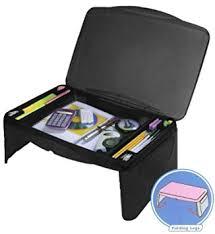 Laptop Desk Accessories Folding 17 X 11 Desk With Storage Black