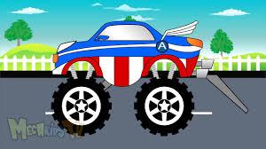 monster trucks clipart captain america truck monster trucks for chlidren youtube
