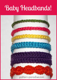 crochet baby headband free crochet pattern six styles of baby headbands pattern paradise