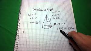 fläche zylinder berechnen kegelberechnung oberfläche eines kegels berechnen