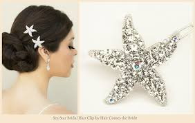 starfish hair clip starfish bridal hair accessories for your wedding hair